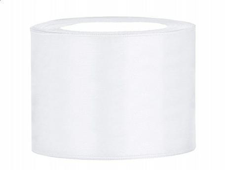 Stuha saténová 50 mm x 25 m bílá,
