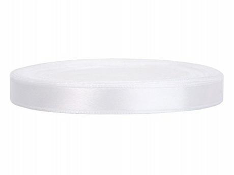Stuha saténová 6 mm x 25 m bílá -AKCE do vyprodání,