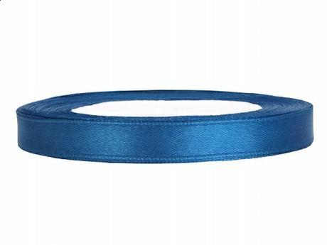 Stuha saténová 6 mm x 25 m modrá,
