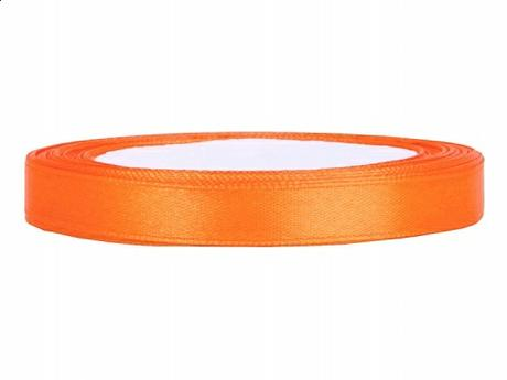 Stuha saténová 6 mm x 25 m oranžová,