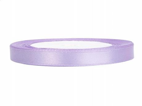Stuha saténová 6 mm x 25 m světle fialová,