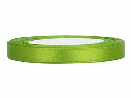 Stuha saténová 6 mm x 25 m světle zelená,