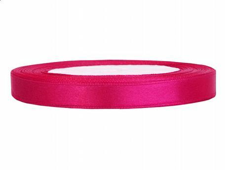 Stuha saténová 6 mm x 25 m sytě růžová,