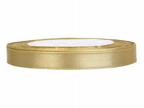 Stuha saténová 6 mm x 25 m zlatá,