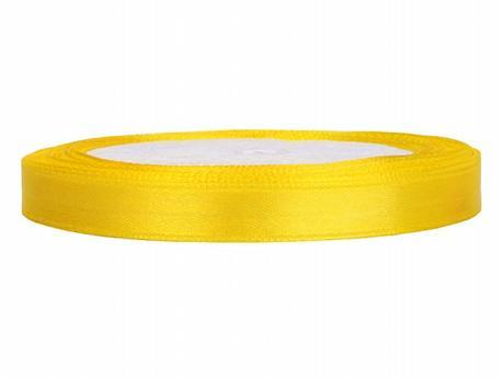 Stuha saténová 6 mm x 25 m žlutá,