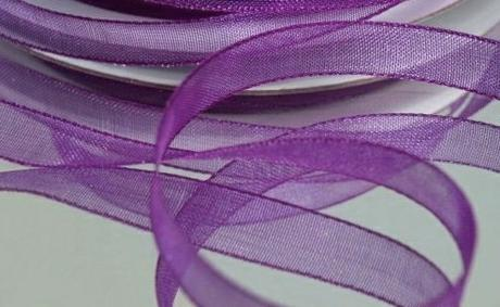 Stuha šifónová 6 mm x 25 m purpurově fialová,