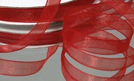 Stuha šifónová 6 mm x 25 m vínově červená,
