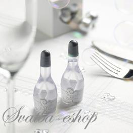 Svatební bublifuk stříbrné šampaňské,