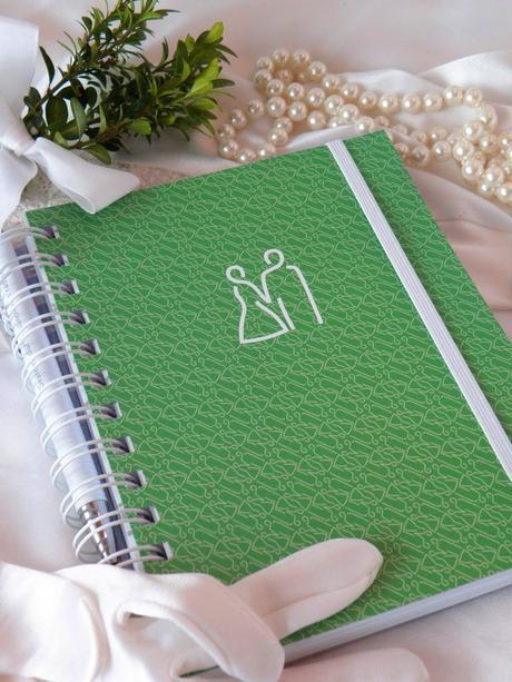 Svatební diář zelený,