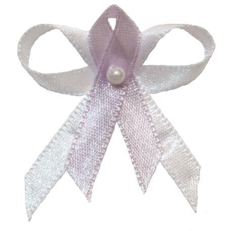 Svatební vývazek bílo světle fialový,