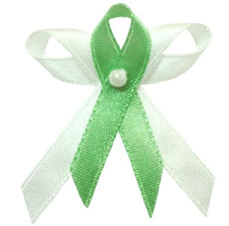 Svatební vývazek bílo zelený,
