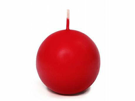 Svíčka koule ø 60 mm červená,
