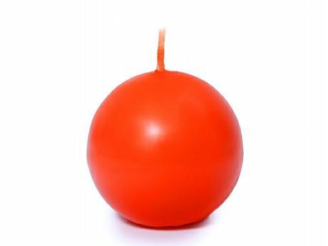 Svíčka koule ø 60 mm oranžová,