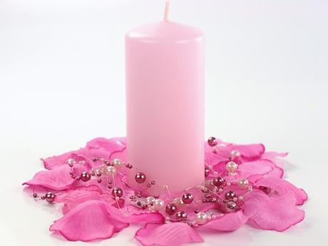 Svíčka válec světle růžová 60mm x 120 mm,