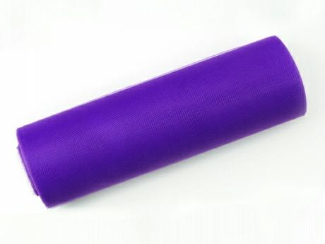 Tyl 15 cm x 9 m fialový,