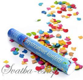 Vystřelovací party konfety 40 cm,