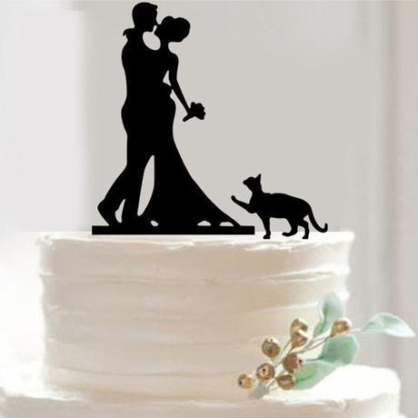 Cake topper Kočka,