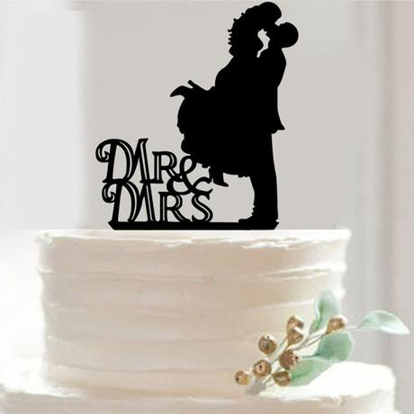 Cake topper Pán a paní polibek,
