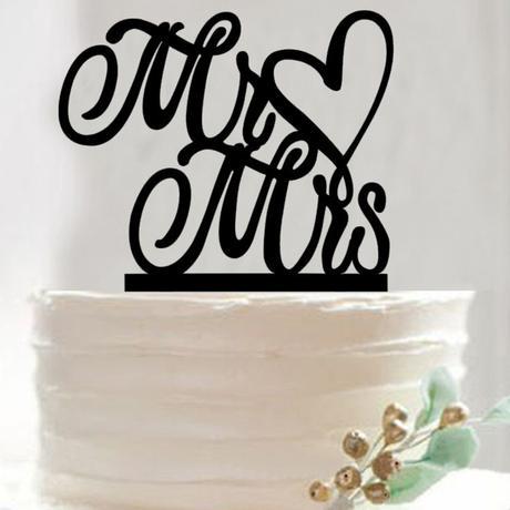 Cake topper Pán paní srdce,