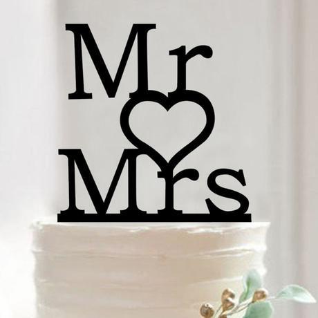 Cake topper Pán srdce paní,