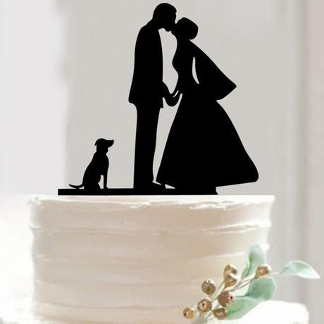 Cake topper štěně,