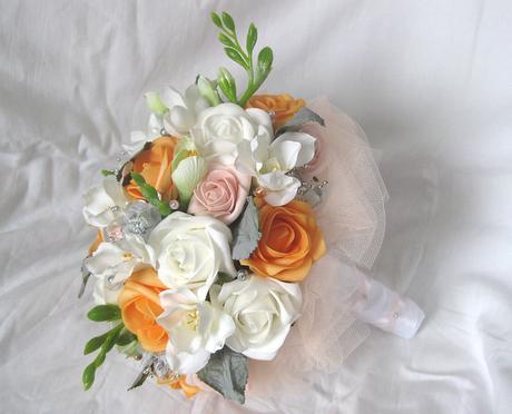 Letní svatební kytice,