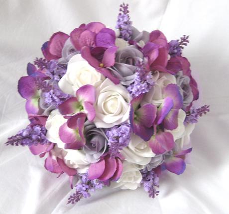 Svatební kytice levandulová,