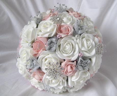 Svatební kytice růžová,