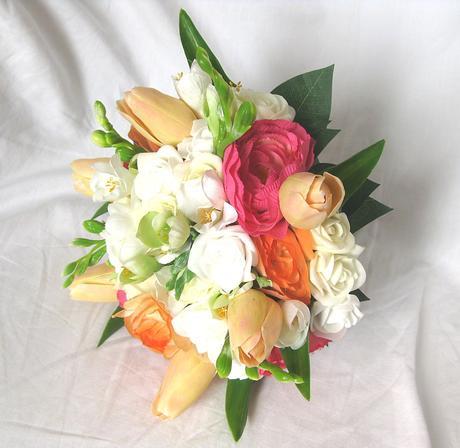 Svatební kytice - tulipán, ranunculus, frézie,