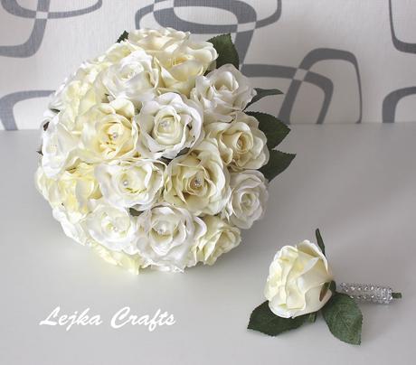 Svatební set - bílá+krém,