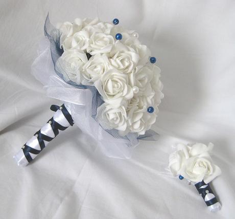 Svatební set - jednoduchá tmavě modrá,