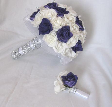 Svatební set jednoduchý - tmavě fialová,