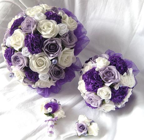 Svatební set tmavě fialový,