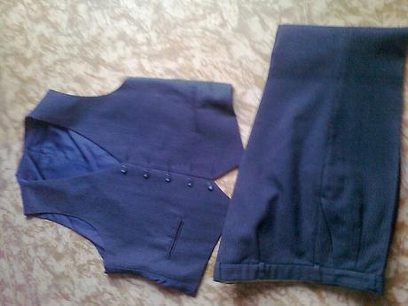nohavice + vestička, XL