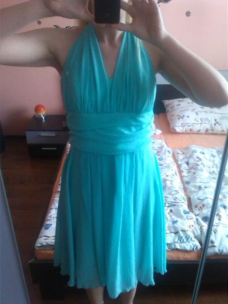 Spoločenské šaty - mint 40/42, 42
