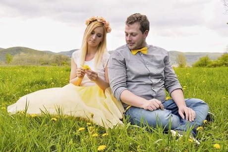 žltá tylová sukňa, čelenka, motýlik+traky, 36
