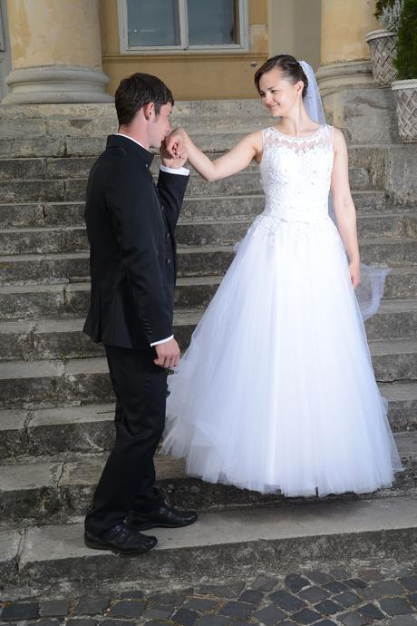 svadobné šaty ako pre popolušku 38, 36