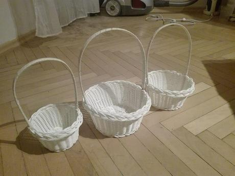 Sada svatebních košíčků pro družičky,