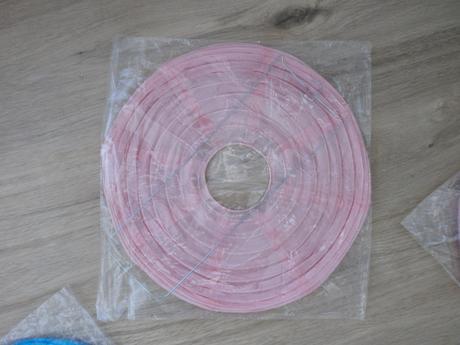 Lampiónky - světle růžové 3ks - pr.20cm,
