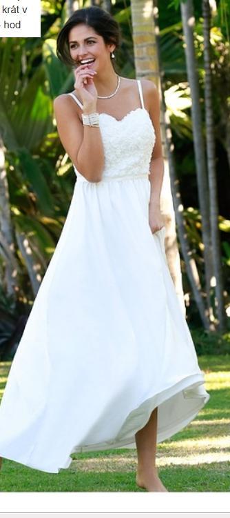 Dlouhé bílé svatební nebo spol. šaty, vel.44, 44