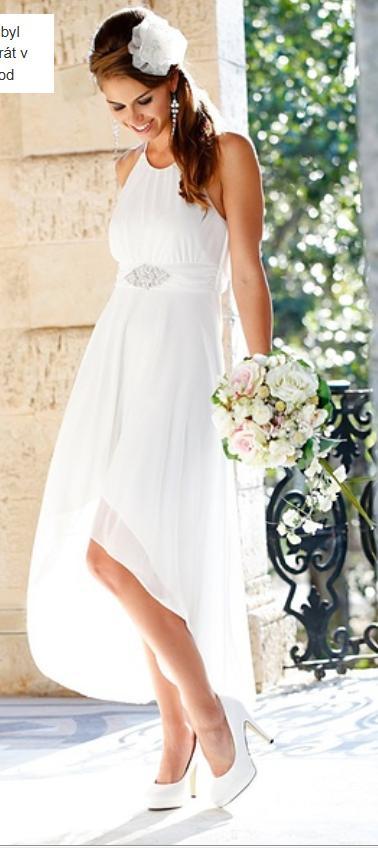 společenské bílé šaty, vel.42, 42