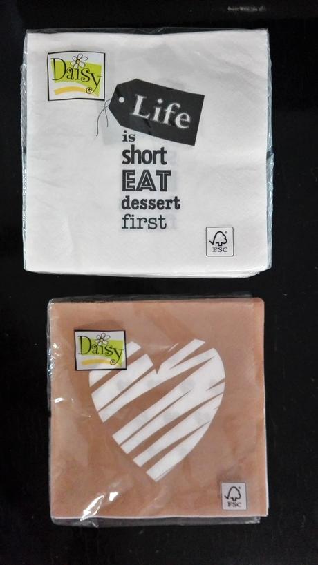 """ubrousky """"life is short,eat dessert first"""","""