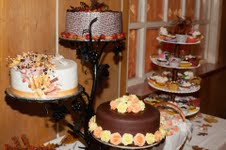 3 poschodovy Stojan na tortu,