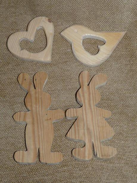 drevené dekorácie,