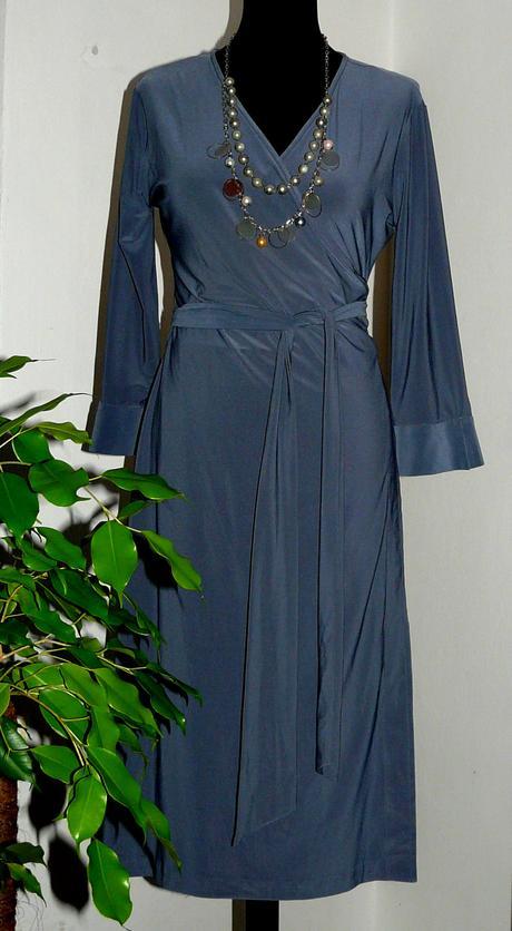 sivé úpletové zavinovacie šaty, 40