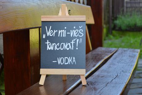 Tabuľka - Vieš tancovať (Vodka),