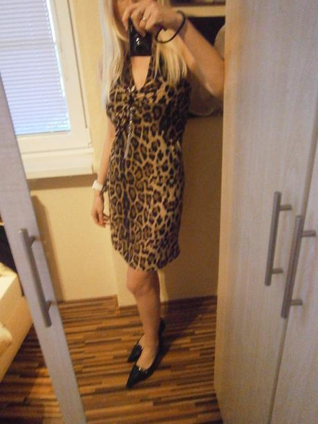 Leopard šaty, 36