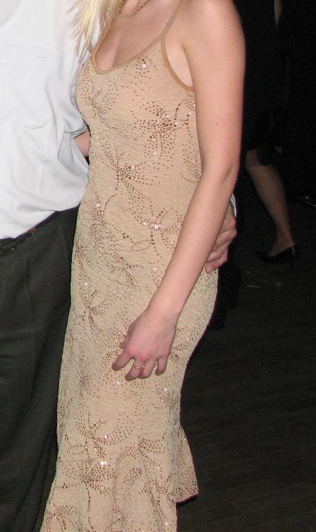 Telovo/zlaté igotavé zlaté šaty, 36
