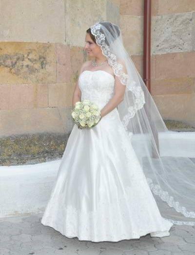 svadobné šaty+ závoj, 36