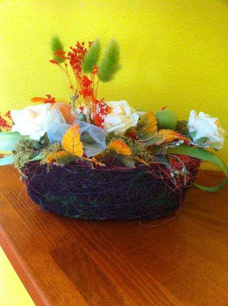 Kvety v košíku,